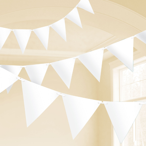 White Plastic Pennant Bunting